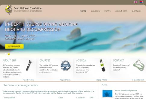 Fundación Scott Haldane, medicina submarina