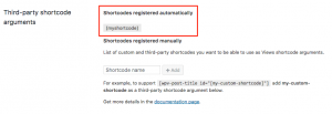 List Of Automatically Registered Third-Party Shortcodes