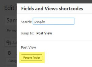 Select your custom search View
