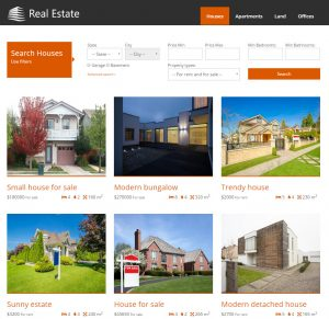 Custom search for houses, according to fields and taxonomy