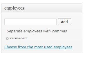 Employee taxonomy