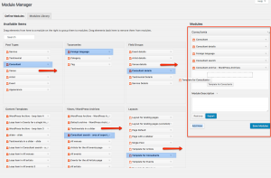 Creating modules using the Toolset Module Manager