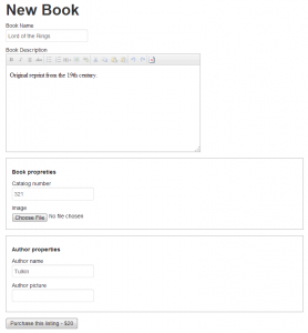 Visitor fills a form and submits it. Following the form submission, the visitor will go to payment.