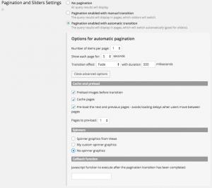 Creating sliders - Slider settings