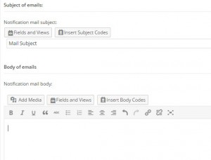 Forms notifications – Email subject and body