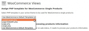 Assign template for WooCommerce Single Products