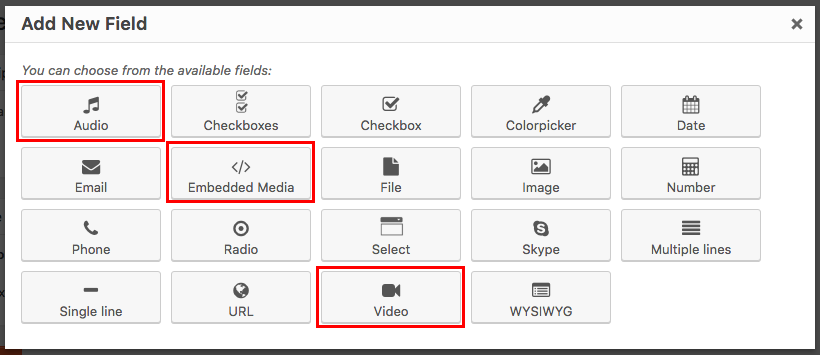 Adding audio, video and other embedded content to your site - Toolset