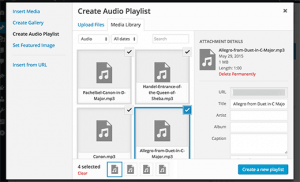 Audio Playlist Creation