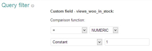 Query filter - calculated fields