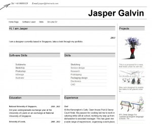 an on-line cv made with Toolset