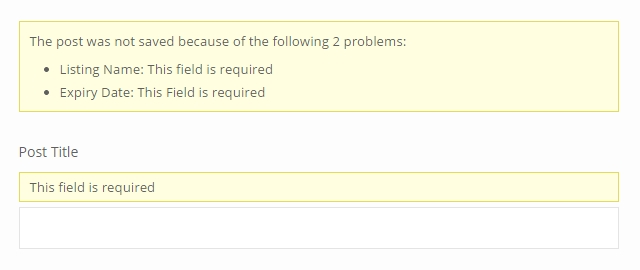 Styling Forms - error messages