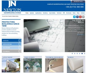 How the John Newton Ltd. Waterproofing Systems site was built