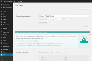 How Slider was implemented with the Views plugin (1/4)