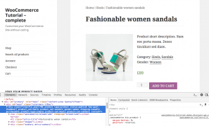 Div with WooCommerce classes