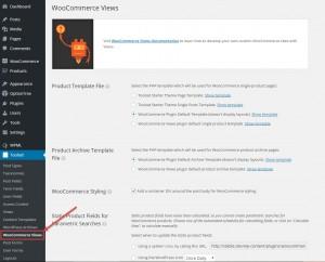 Toolset WooCommerce Views settings page