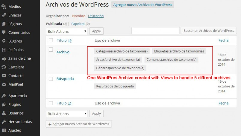 Natalia created two custom WordPress archives and used them to manage six archive pages.
