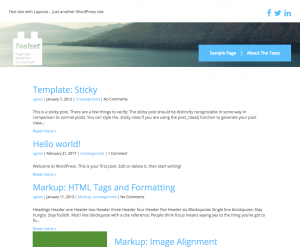 (#1) Toolset starter-based site with default layouts