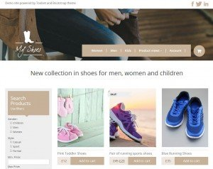 E-commerce site built with Toolset Starter Theme