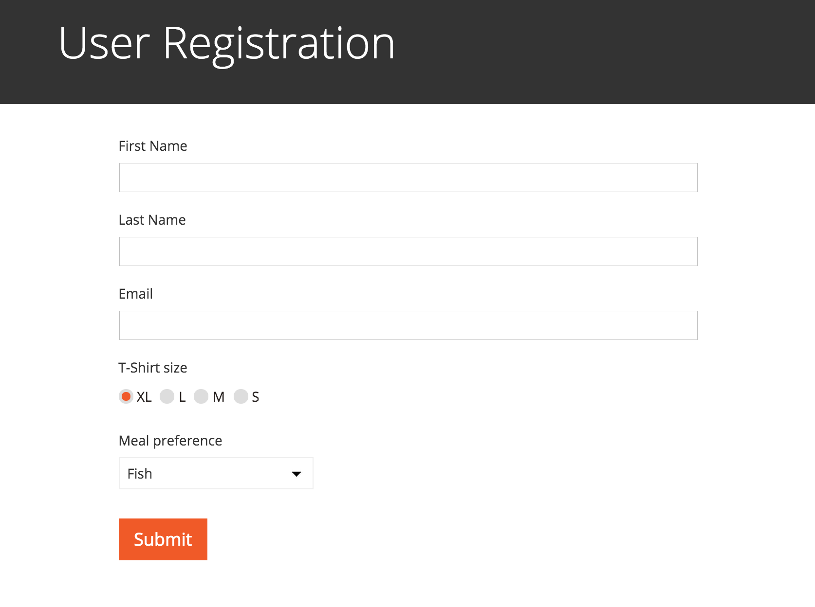 Front end user registration and editing forms basic example of the cred user form on the front end thecheapjerseys Image collections