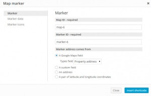 Selecting the source of the marker from a custom field