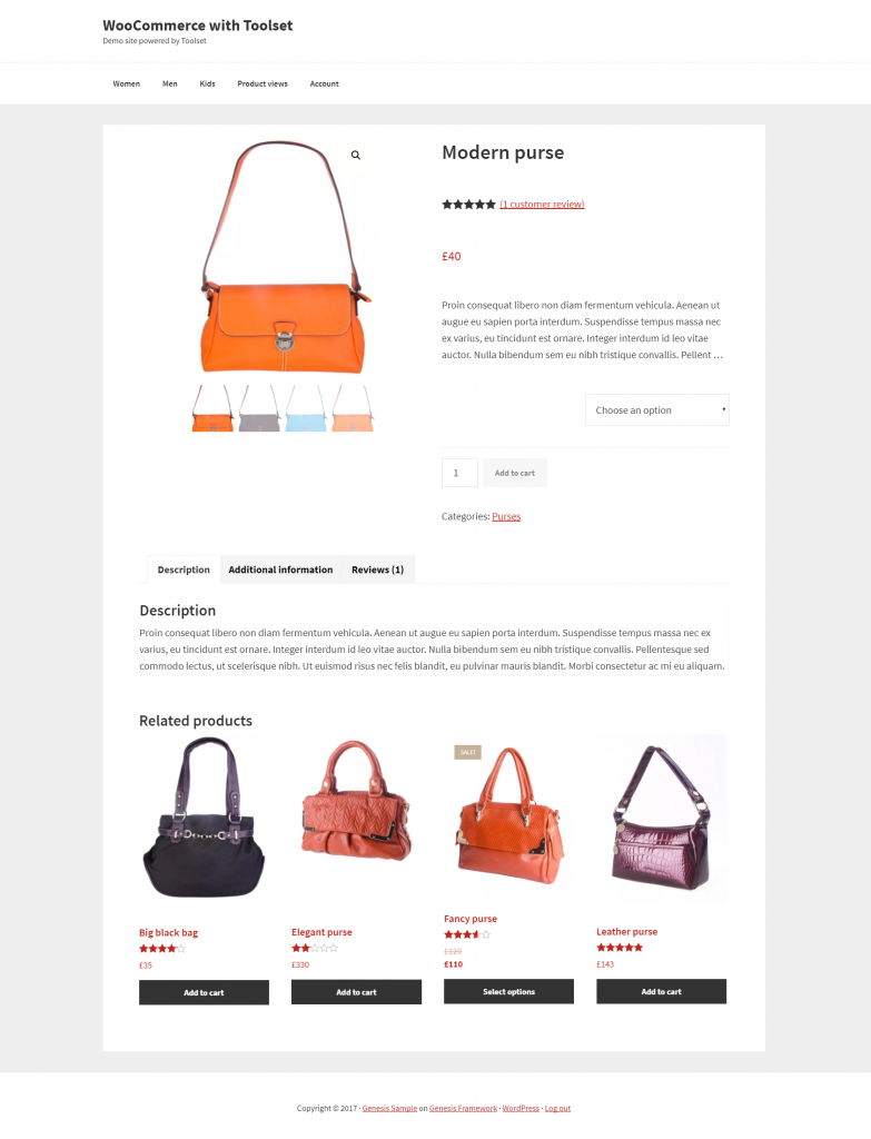 A custom WooCommerce site built with Toolset and Genesis