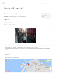 Custom post on displayed using a template created using Divi Builder and Toolset