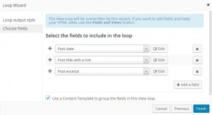 Adding the fields in Loop Wizard