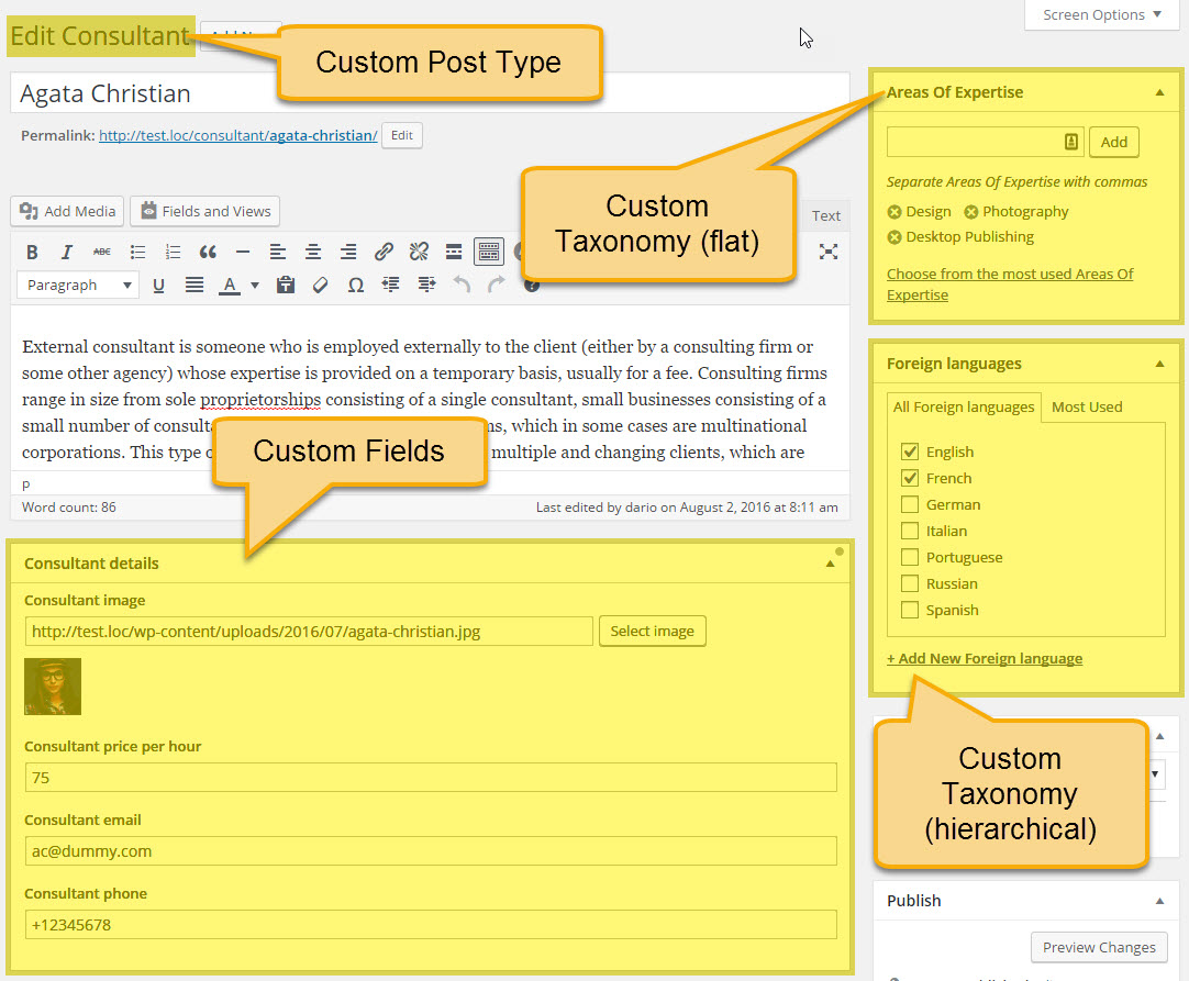 how to get custom post types