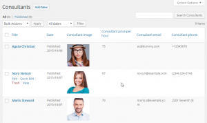 """Listing Page of our Custom Post Type """"Consultants"""""""