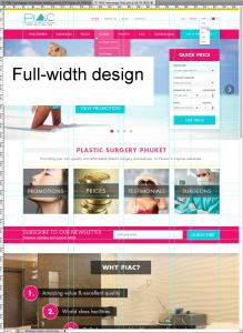 Full-width design