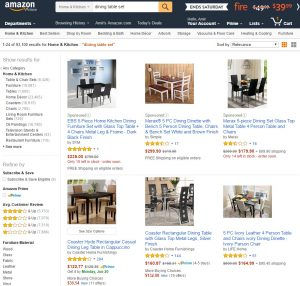 Custom search for each category in Amazon