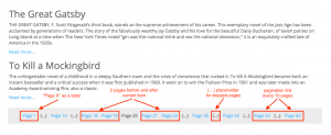 Pagination example when you navigate to page 20