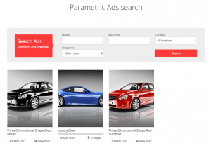 Custom search for ads