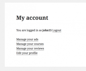 "Toolset allows you to create a custom ""My account"" page displaying the assets of the logged-in user."
