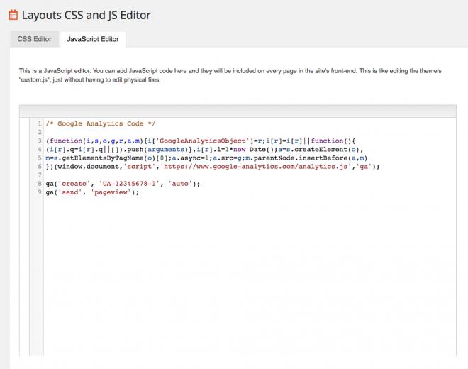 Layouts JavaScript Editor