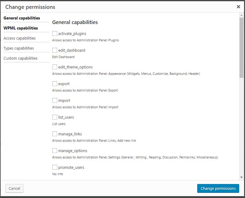 Granular user permissions
