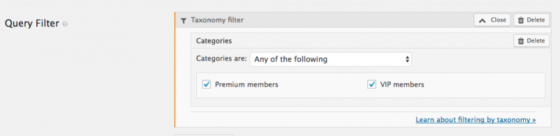Adding filters for categories
