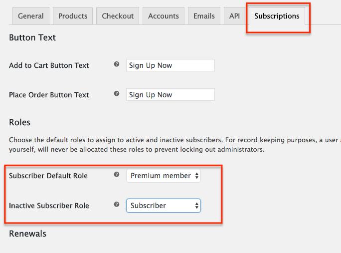 WooCommerce Subscriptions setup