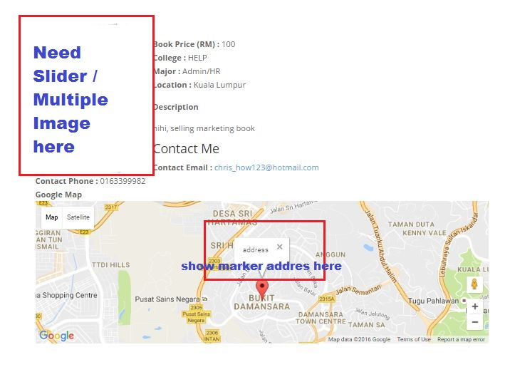 Map Market PopUp Content & Multiple Image in Content Template/Slider ...