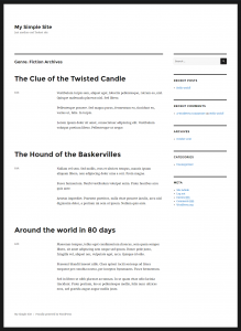 The custom taxonomy term archive page as displayed by the Twenty Sixteen theme's default template