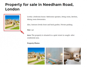 """First real estate image, shown using the """"index"""" attribute of a repeating image field"""