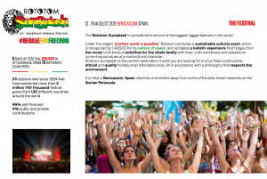 About the Rototom festival - press materials from Rototom archives