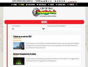 Searchable news archive http://www.rototomsunsplash.com/en/news