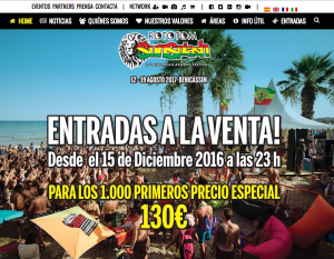 www.rototomsunsplash.com: sitio web del Festival Europeo de Reggae Rototom Sunsplash