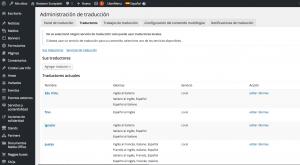 Configuración de los traductores de rototom.com con el plugin de Administración de traducción de WPML.