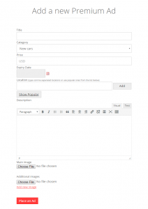 Content submission forms