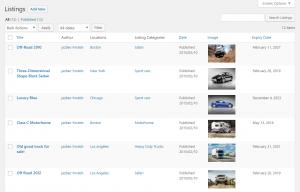 Custom Posts Listing Page