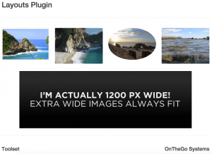 Responsive images rendered on a bigger screen
