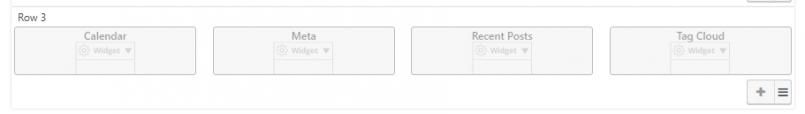 Custom horizontal widget area