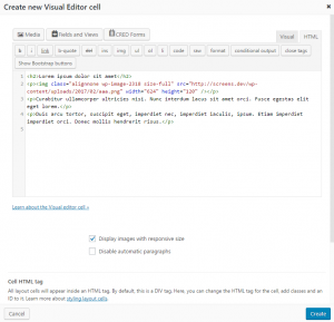 HTML Editing Mode